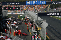 Action in the Pitlane