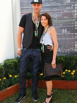Danni Minogue, Singer with her boyfriend