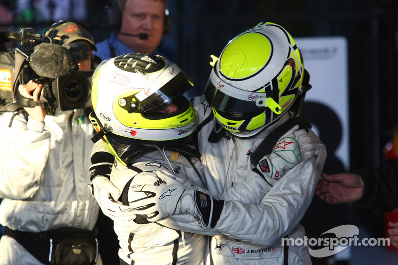 1. Jenson Button, Brawn GP; 2. Rubens Barrichello, Brawn GP