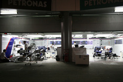 General view of the garage