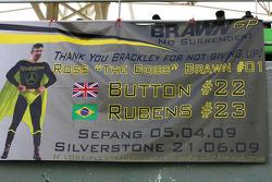 A fan poster for Brawn GP
