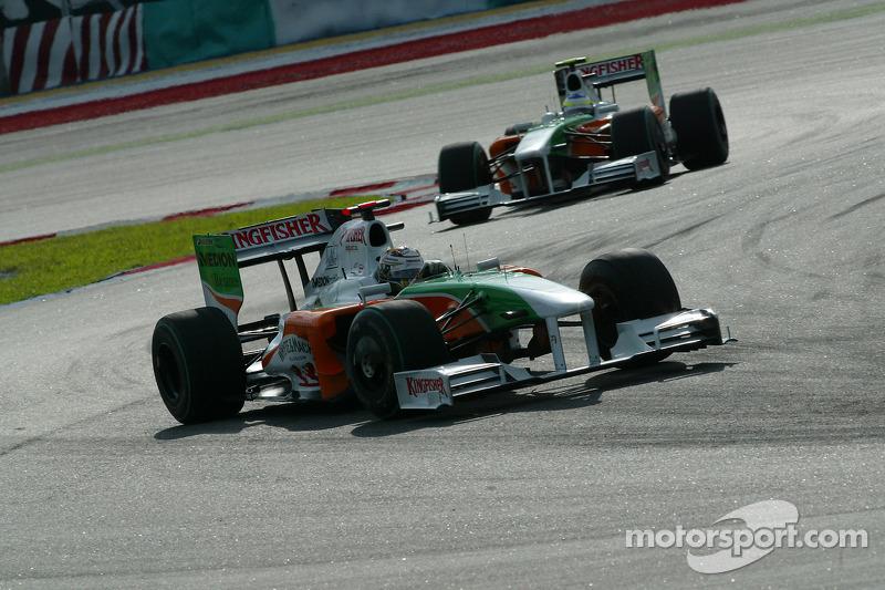2009: Force India VJM02 (один подиум, 9-е место в КК)