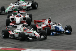 Vitantonio Liuzzi, driver of A1 Team Italy and Marco Andretti, driver of A1 Team USA