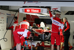 The car of Timo Glock, Toyota F1 Team