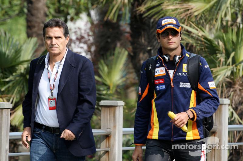 Nelson Piquet and Nelson A. Piquet, Renault F1 Team