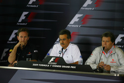 FIA press conference: Christian Horner, Red Bull Racing, Sporting Director with Dr. Mario Theissen, BMW Sauber F1 Team, BMW Motorsport Director and Norbert Haug, Mercedes, Motorsport chief