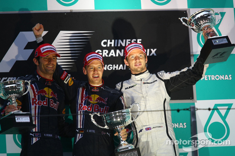 2009 : 1. Sebastian Vettel, 2. Mark Webber, 3. Jenson Button