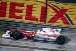Jarno Trulli, Toyota Racing after a crash