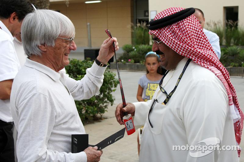Bernie Ecclestone en Abdulla bin Isa Al Khalifa