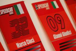 Grid boards for Marco Cioci and Gianni Giudici