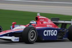 Milka Duno, Dreyer & Reinbold Racing leaves the pits