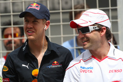 Sebastian Vettel, Red Bull Racing and Timo Glock, Toyota F1 Team