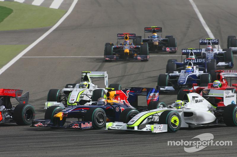 Start: Sebastian Vettel, Red Bull Racing and Jenson Button, Brawn GP