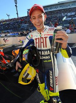 Second place Valentino Rossi, Fiat Yamaha Team