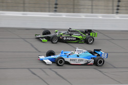 Ernesto Viso, HVM Racing and Stanton Barrett, Curb/Agajanian/3G run together