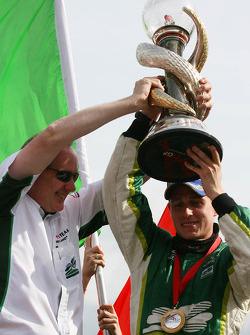 Mark Gallagher and Adam Carroll, driver of A1 Team Ireland