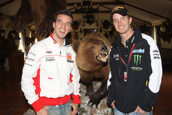 Alex De Angelis, San Carlo Honda Gresini, Colin Edwards, Monster Yamaha Tech 3, visit a ranch in Southern Spain