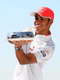 Lewis Hamilton, McLaren Mercedes, cooks a spanish omelette