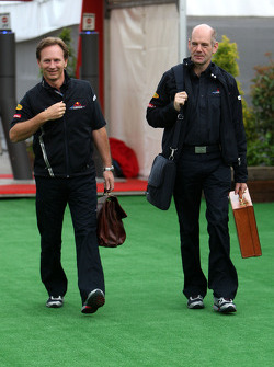 Christian Horner, Red Bull Racing, Sporting Director and Adrian Newey, Red Bull Racing, Technical Operations Director
