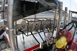 Air tanks sit behind the pit wall
