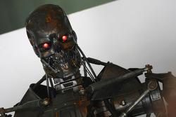 Terminator in the Brawn GP garage