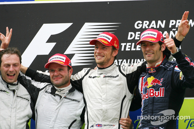2009 - 1. Jenson Button, 2. Rubens Barrichello, 3. Mark Webber