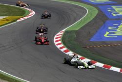 Jenson Button, Brawn GP leads Felipe Massa, Scuderia Ferrari