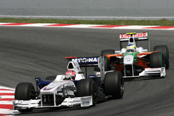 Robert Kubica, BMW Sauber F1 Team ve Giancarlo Fisichella, Force India F1 Team