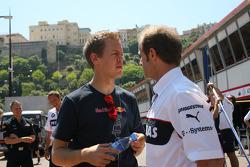 Sebastian Vettel, Red Bull Racing en Josef Leberer, BMW Sauber F1 Team