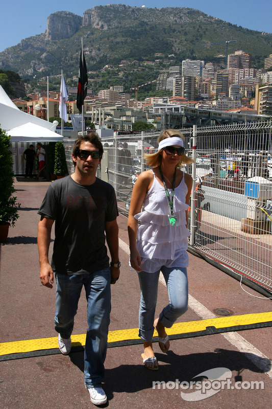 Timo Glock, Toyota F1 Team and his girlfriend