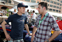 Sebastian Vettel, Red Bull Racing with Felix Sturm Boxer
