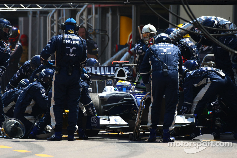 Pitstop of Nico Rosberg, Williams F1 Team