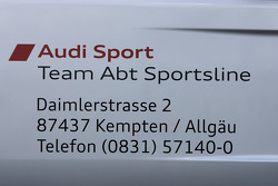 Transporter detail: Audi Sport Team Abt is on Daimler Street