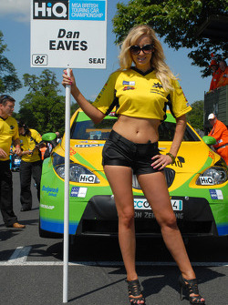 Samantha Louise Andre - grid girl to Dan Eaves