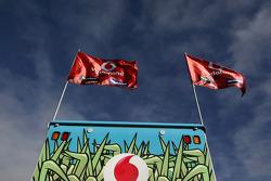 Team Vodafone Flags
