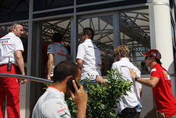 A big meeting of all Team Principles and all F1 drivers is held in the Toyota motorhome