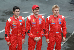 Pierre Kaffer, Jaime Melo and Mika Salo