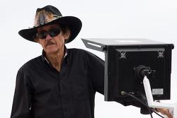 Richard Petty waits atop his hauler