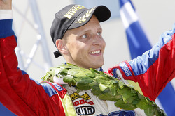 Podium: winner Mikko Hirvonen, Ford Focus RS WRC08, BP Ford Abu Dhabi World Rally Team