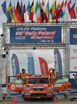 Podium: third place Henning Solberg and Cato Menkerud