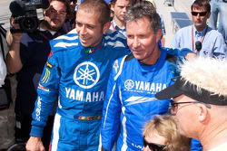 Go-kart promotional event: Valentino Rossi, Fiat Yamaha Team, and Eddie Lawson