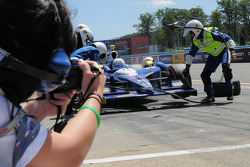 Mike Conway, Dreyer & Reinbold Racing makes a pit stop