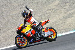 Race winner Dani Pedrosa, Repsol Honda Team celebrates