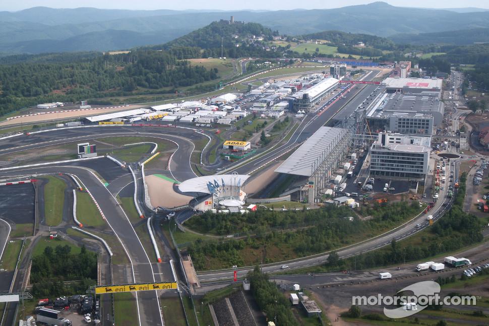 Aerial view of the Nurburgring.
