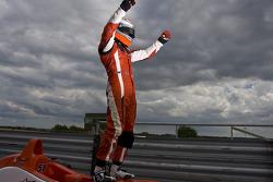 Race winner Riki Christodoulou
