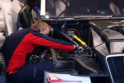 Audi mechanic workong on one of the cars