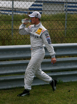 Ralf Schumacher, Team HWA AMG Mercedes, missed the driver parade