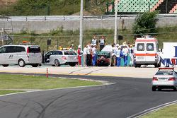 Felipe Massa, Scuderia Ferrari, has a major crash