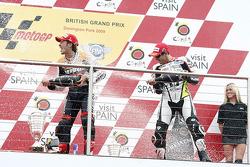 Podium : le vainqueur Andrea Dovizioso, Repsol Honda Team, le deuxième, Colin Edwards, Monster Yamaha Tech 3