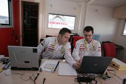Citroen Total World Rally team members at work